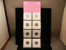 8-Roosevelt Dimes, BU , 1974-P & D, 76,79,87,88, P & D, 89