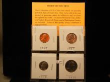 4-Proof Coins, 1970 Washington Quarter, 78 Roosevelt Dime, 61 Jefferson Nickel, 62 Lincoln Cent