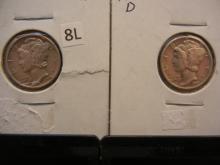 1941-D & 1942-D Mercury Dimes