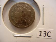 1866 Nickel Three Cent Piece