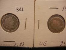 1912 & 1913 Barber Dimes