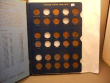 Whitman Collactor Book Of Lincoln Wheats including 1909-VDB, 1909, 1910-S, 1911-D, 1912-D, 1913-D&S, 1922-D (Not a Complete Book: 76 Coins Total)