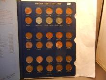 Whitman Collactor Book Of Lincoln Wheat & Memorial Cents: 1941 to 1969  Includes 4 Indian Head Cents & 1 Flying Eagle Cent (Not Complete Book)