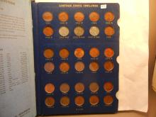 Whitman Collactor Book Of Lincoln Wheat & Memorial Cents: 1941 to 1971-D Complete but w/o 1955 Double Die
