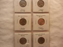 1939 to 1962 BU Jefferson Nickels