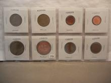 8 Foreign Coins