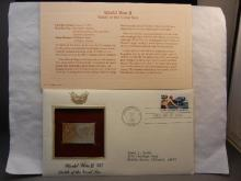 World War II Battle of the Coral Sea Gold Stamp First Day of Issue