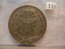 Old Mexican Silver Dollar