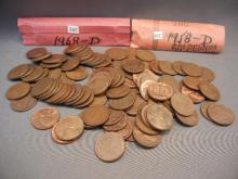 100-1958-D Lincoln Wheat Cents