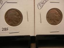 Two 1936-D Buffalo Nickels