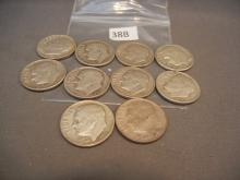 10- Silver Roosevelt Dimes