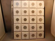 20-Canadian Nickels: 1956, 1957, 1958, 1959, 1960