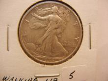 1934 Walking Liberty Half Dollar.  Very Fine.