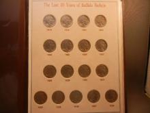 1919 ? 1938 Buffalo Nickels in folder.  Contains tough 31-S in Fine and 38-D.