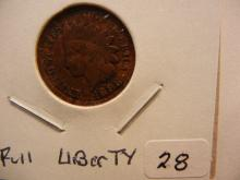 1898 Indian Head Cent.  Almost uncirculated with full Liberty.