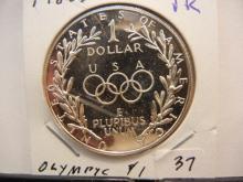 1988 Olympic Commemorative Silver Dollar GEM Proof.