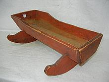 Vintage Wood Doll Baby Cradle