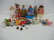 Lot of Dolls , Porcelain, Plastic & Vintage  & Modern