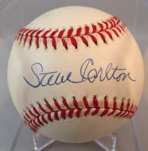 Steve Carlton Autographed OML Coleman Baseball