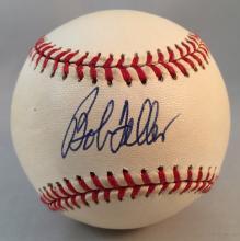 Bob Feller Autographed OML Selig Baseball