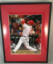 Joey Votto Autographed 8x10 - Framed & Matted