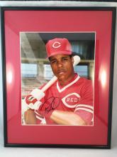 Barry Larkin Autographed 8x10 - Framed & Matted