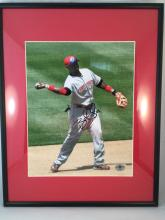 Brandon Phillips Autographed 8x10 - Framed & Matted