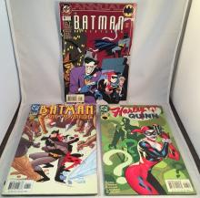 Lot of 3 Comics w/Harley Quinn appearances - Batman Adventures Annual #2 (3rd appearance) -All 3 books have damage