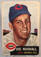 1953 Topps Joe Nuxhall #105 - Light creases