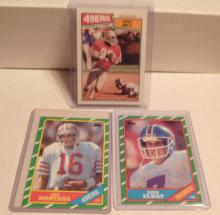 Joe Montana, John Elway, Jerry Rice Lot