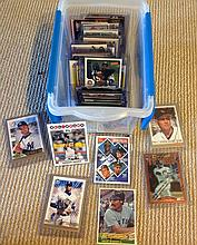 Bin of over 90 Star Cards and Inserts