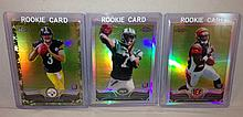 Lot of 3 2013 Topps Chrome Football Rookie Refractors - Geno Smith, Bernard