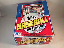 1982 Topps Baseball Empty Box