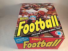 1983 Topps Football Empty Box
