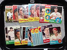 Lot of 23 Baseball Cards, mostly 1963 - Writing on some