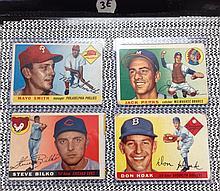 1955 Topps Baseball Lot of 4 Cards - Mayo Smith