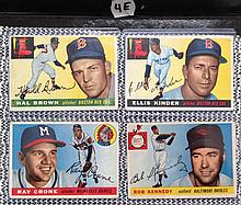 1955 Topps Baseball Lot of 4 Cards - Hal Brown