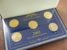 2001 State Quarter Collection (Gold Plated)