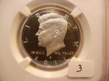 2011 S Silver Kennedy Half Slabbed by NGC as Proof 69, Ultra Cameo.