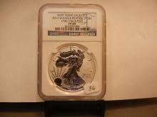 2013 W Reverse Proof silver Eagle.  Slabbed by NGC as PR69, Early Release.