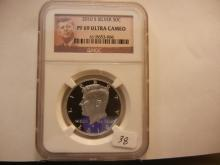 2010-S Silver Kennedy Half.  Slabbed by NGC as PR69, Ultra Cameo.