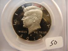 2013-S Kennedy Half.  Slabbed by PCGS as Proof 69, DCAM.
