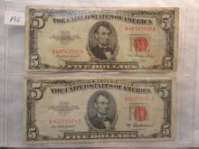 2-1953 Five Dollar Red Seal Notes