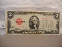1928 Red Seal Two Dollar US Note