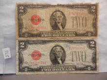 2-1928 Two  Dollar Red Seal Notes,