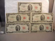 5-1953 Red Seal Two Dollar Federal Reserve Notes,