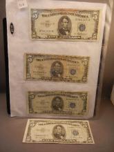 4-1953 Blue Seal Five Dollar Silver Certificates
