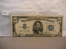 1934 Blue Seal  Five Dollar Silver Certificate