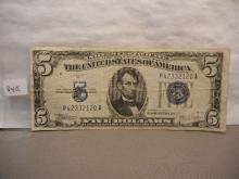 1934-C Blue Seal Five Dollar Silver Certificate