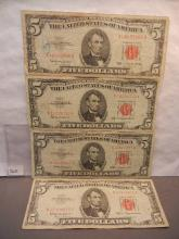 4-1963 Five Dollar US Notes